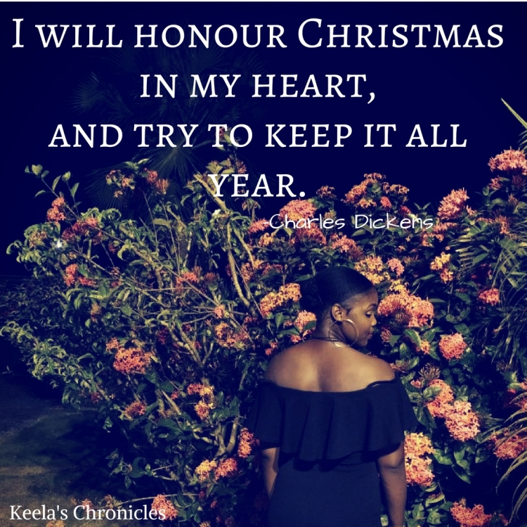 I will honour Christmas in my heart, and try to keep it all year.